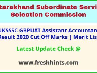 GB Pant University Assistant Accountant Results Selection List 2020