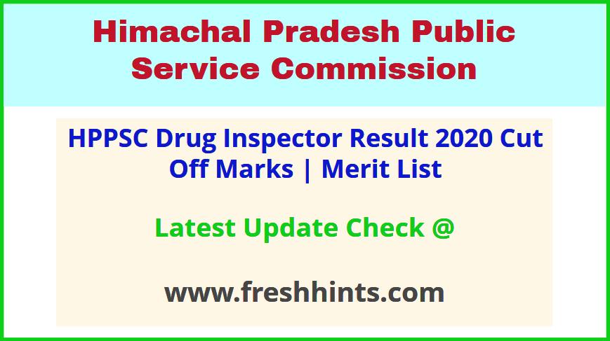 HP DHSR Drug Inspector Selection List 2020