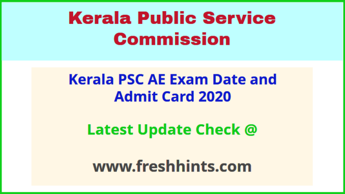Kerala LSGD Assistant Engineer Civil Hall Ticket 2020