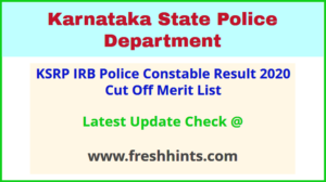KSP SRPC IRB PC Selection List 2020