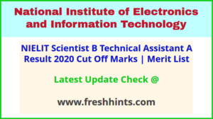 NIC Scientist B SA TA - A Selection List 2020