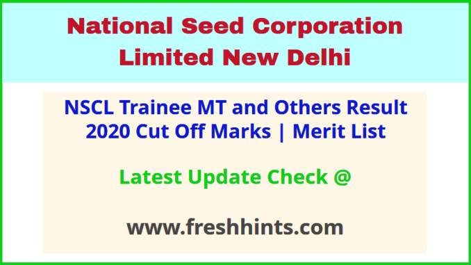 NSC Management Trainee Results Selection List 2020