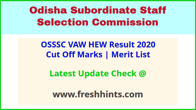 Odisha Village Agriculture Worker Selection List 2020