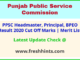 Punjab Headmaster Selection List 2020