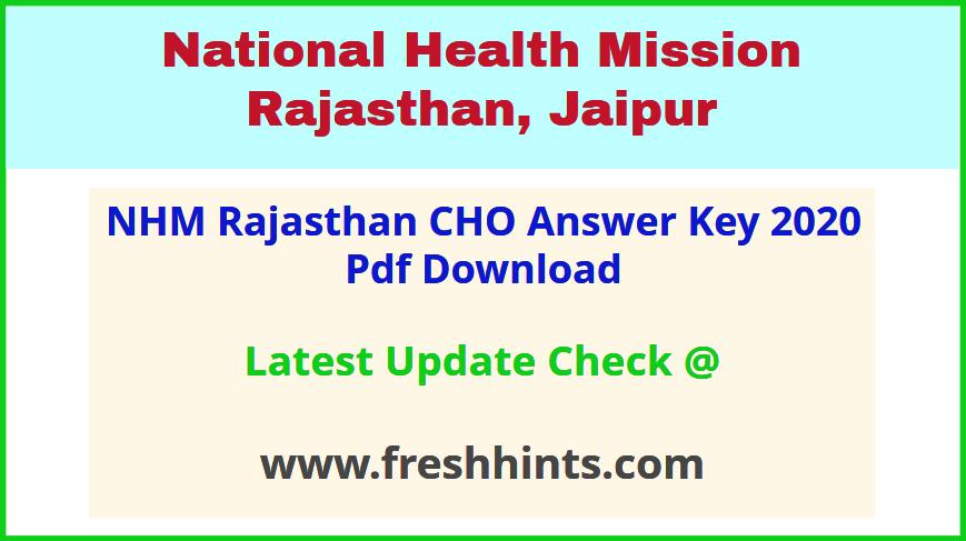 Rajswasthya Community Health Officer Answer Sheet 2020