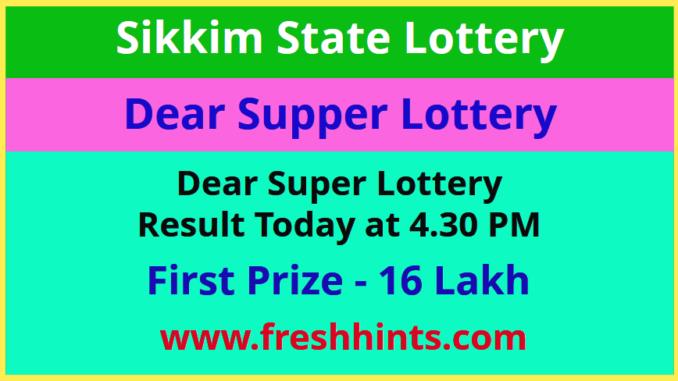 Sikkim Dear Super Lottery Winner List 2020