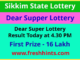 Sikkim Dear Super Lottery Winner List 2020