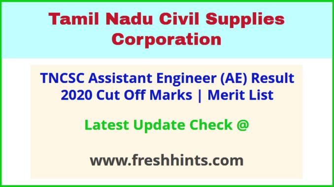 Tamil Nadu Civil Supplies Corporation AE Selection List 2020