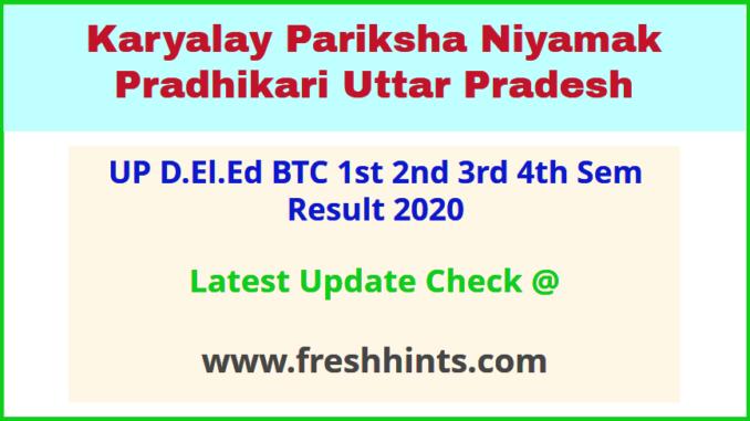 Uttar Pradesh BTC First Second Third Forth Sem Results 2020