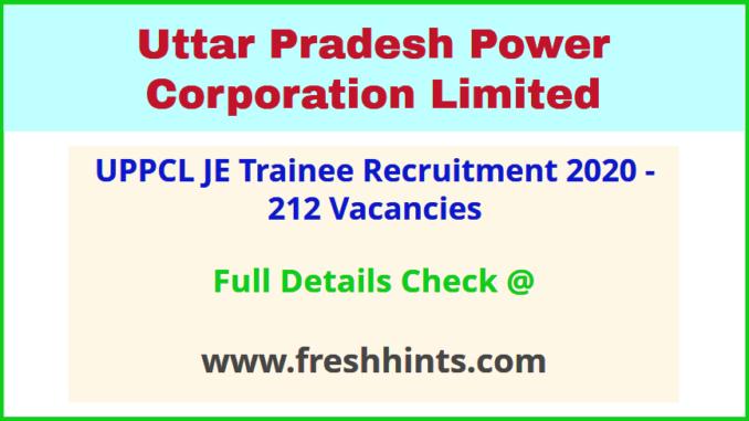 UPPCL Junior Engineer Electrical Bharti 2020