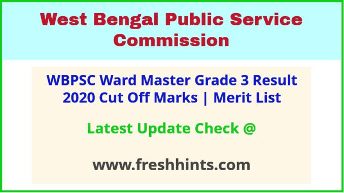 West Bengal Labour Department Ward Master Selection List 2020