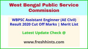 West Bengal PSC Assistant Engineer Civil Selection List 2020