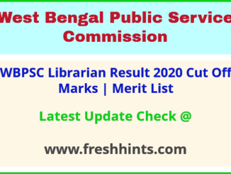 West Bengal PSC Librarian Selection List 2020