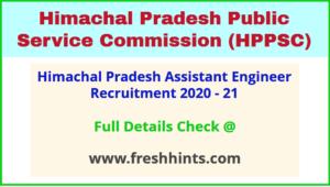 Himachal Pradesh Assistant Engineer Recruitment 2021