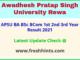 Awadhesh Pratap Singh University Rewa UG Result 2021