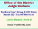 Bankura District Judgeship Court Results Selection List 2021