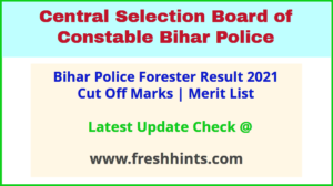 CSBC Bihar Vanpal Selection List 2021