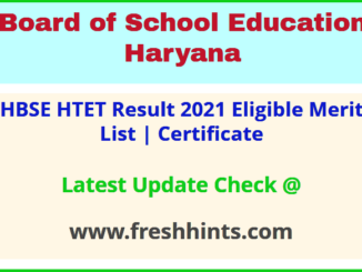 Haryana Teacher Eligibility Test Results Certificate 2021