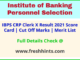 IBPS CRP Clerk X Selection List 2021