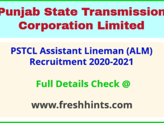 PSTCL Assistant Lineman Vacancy 2021