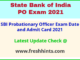 Bank of India PO Call Letter 2021