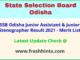 State Selection Board Odisha JA Result Selection List 2021