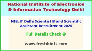 STQC Scientist B, SA Bharti Notification 2021