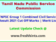 Tamil Nadu Combined Civil Service Exam Selection List 2021