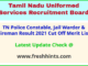 TNUSRB PC Jail Warder Fireman Selection List 2021