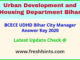 UDHD Bihar City Manager Answer Sheet 2020