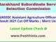 Uttarakhand Sahayak Krishi Adhikari Results Selection List 2021