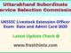 Uttarakhand Pashudhan Prasar Adhikari Admit Card 2020