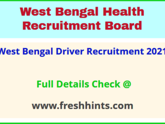West Bengal Driver Recruitment 2021