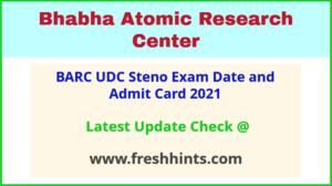 Bhabha Atomic Research Centre Upper Division Clerk Hall Ticket 2021