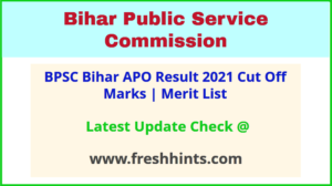 Bihar Assistant Prosecution Officer Results 2021