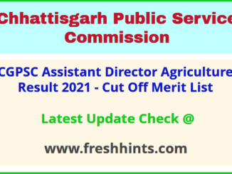 Chhattisgarh State Engineering Services Results Selection List 2021