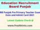 Education Recruitment Board Pre Primary Teacher Hall Ticket 2021