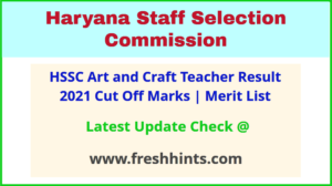 Haryana Drawing teacher Results Selection List 2021