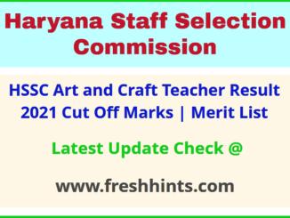 Haryana Drawing teacher Results Selection List 2021