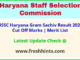 Haryana Gram Panchayat Secretary Results Selection List 2021