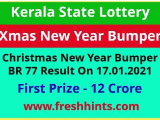 Kerala New Year Bumper Lottery Winner List 2021