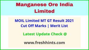 Manganese Ore India Ltd Management Trainee Selection List 2021