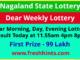 Nagaland Weekly Lottery Results 2021