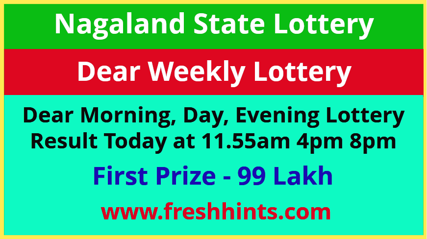 Nagaland Weekly Lottery Results 2021