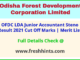Odisha FDC Account Assistant Lower Division Assistant Selection List 2021