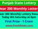 Punjab State Lottery Dear 200 Monthly Winner List 2021