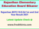Rajasthan Shala Darpan DELED Part 1 2 Year Results 2021
