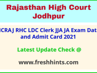 RHC LDC Exam Admit Card 2021