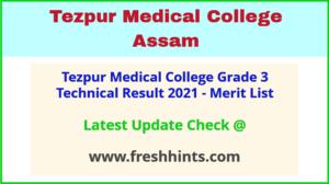 TMC Assam Technical Posts Selection List 2021