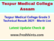 TMC Assam Technical Posts Selection List 2021